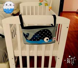 Baby cot (high quality wood) - white