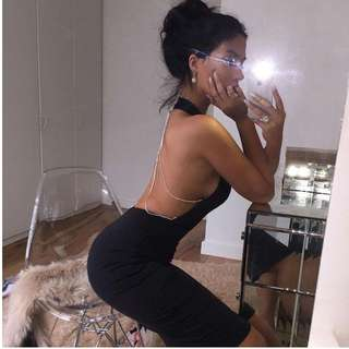 'Marilyn' Backless Crystal Dress (3 COLOURS)