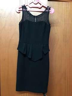 Peplum lacey dress