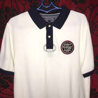 TOMMY HILFIGER Bram Patch White Polo Shirt with tag