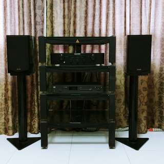 Hifi System, Quad Speakers, Marantz Amplifier, Tuner