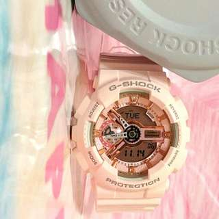 🈹櫻花粉紅 限定特別版 CASIO G-Shock Digital Dial Pink Resin Ladies Watch