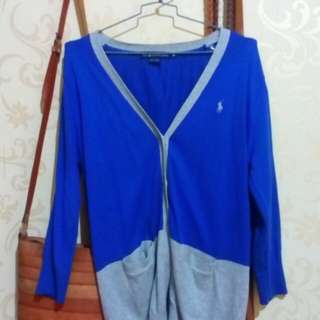 Cardigan Polo blue and grey