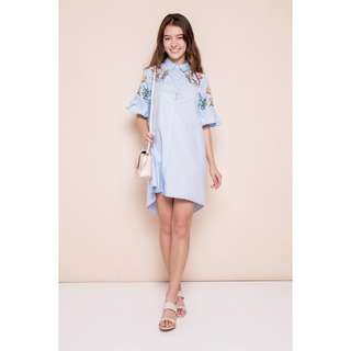 (PO) Emblazoning Embroidery Shirt Dress
