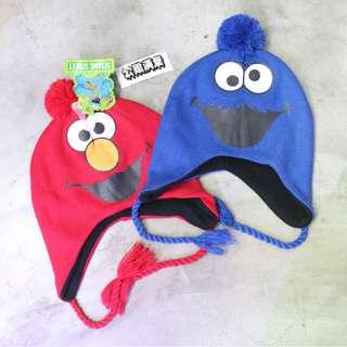 「芝麻街 elmo/cookie monster 針織帽/毛帽 @公雞漢堡」