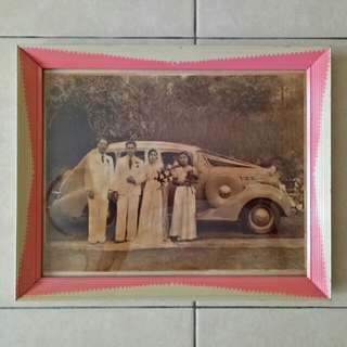 50-60s old photo with frame size 33+27cm perfect