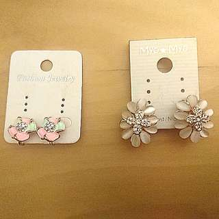 Sale! 2 Clip earrings 夾耳環
