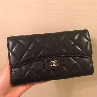 Chanel Long Wallet 黑色經典款