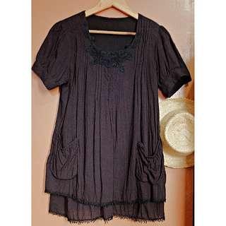 Black Loose Dress/Top