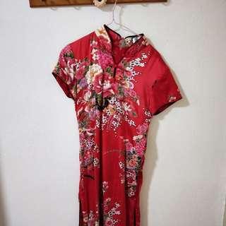 $15! Pretty Red Cheongsam