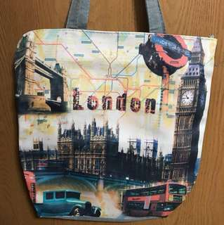 Denim and Canvass Tote Bag