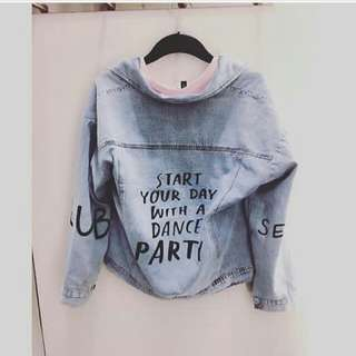 Jacket Oversize denim painting