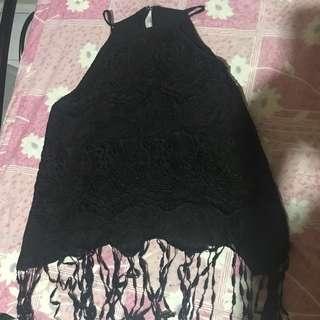 Black halter top