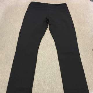 Lululemon Black Skinny Groove Pant AUS Size 6-8
