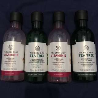 Body Shop, Cleansers and Toners