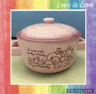 Sanrio My Melody Ceramic Bowl With Lid