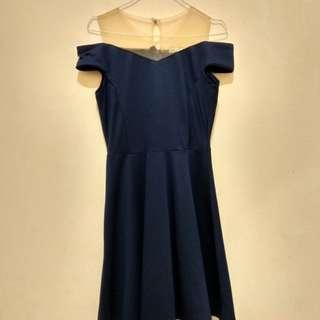 Dress sabrina blue navy