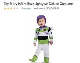 Buzz light costume 1-2 yr old