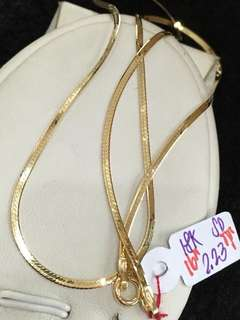 18k gold flat chain necklace