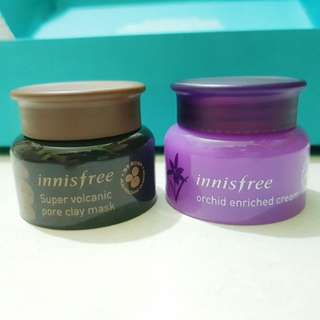Innisfree Orchid Enriched Cream 20ml / Super Volcanic pore clay mask 20ml