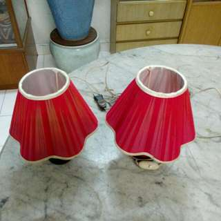 2 Bed Side Lamps Vintage