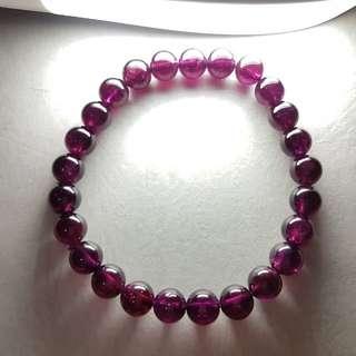 水晶 crystal 紫牙烏7mm