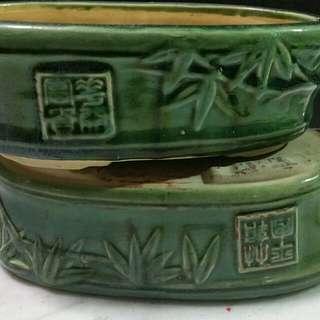 Vintage Bonsai Pot X 1 pair