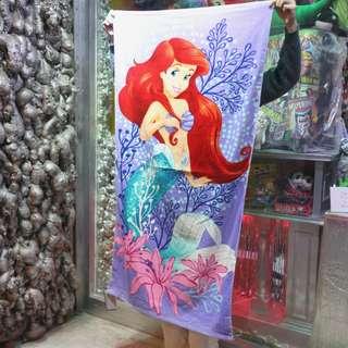 「The Little Mermaid Disney 小美人魚 迪士尼 浴巾 毛巾 80x150cm @公雞漢堡」