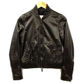 Bally black leather jacket size F 38