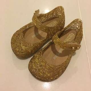 Mini Melissa Campana Zig Zag Gold Glitter
