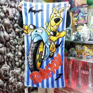 「Scooby Doo 史酷比 叔比狗 浴巾 毛巾 70x137cm @公雞漢堡」