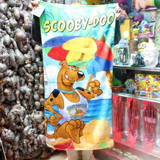 「Scooby Doo 史酷比 叔比狗 浴巾 毛巾 70x140cm @公雞漢堡」