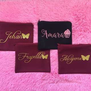 PERSONALIZED POUCHES