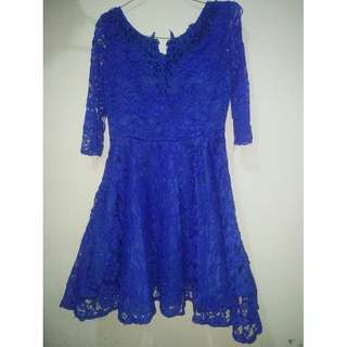 Party dress blue ( with belt )