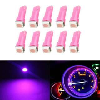 T5 1-SMD 5050 Led Pink Color 2pcs