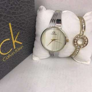 Ck watch with bangle