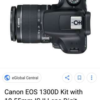 For Sale or For Swap: Canon 1300D (Rebel T6)