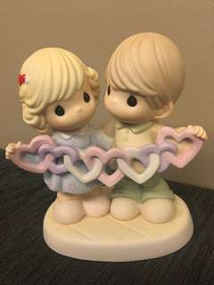 Precious Moments Figurine- Our Hearts Are Intertwined With Love