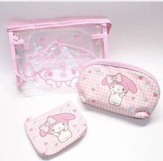 My Melody Set of 3 Pouches