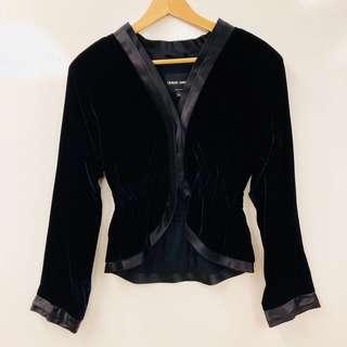 Giorgio Armani navy velvet jacket size 40