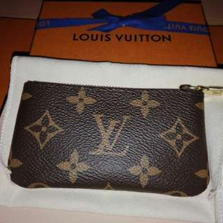 Authentic LV key pouch in monogram