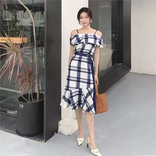 Po: 2 way checkered dress