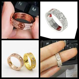 Full diamond ring couple ring