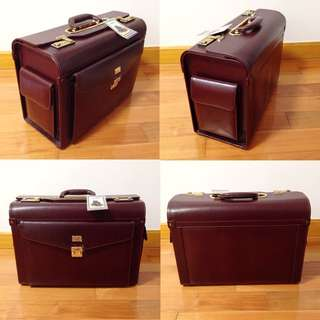 Vintage Condotti Pilot Case / Lawyer Trial Bag / Catalog Case in Burgundy 80s 90s 中古 律師喼 公文箱