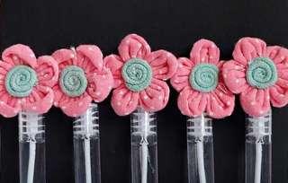 PO Sweet Cotton Flower Bubble Tube Party Doorgift