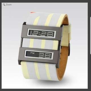"Zerone Crossover Doppel ""PLUG-IN"" White Digital Watch 手錶"