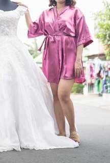 Bride robe or bridal robe
