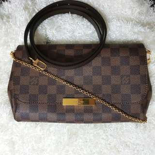 LV Authentic Louis Vuitton Favorite Damier Ebene MM