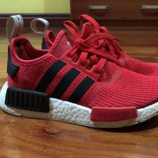 Adidas Core Red and Black Nmd