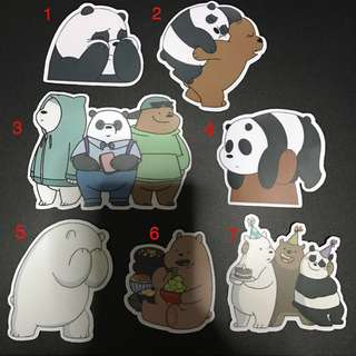 [INSTOCK] We Bare Bears Assorted Designs Stickers